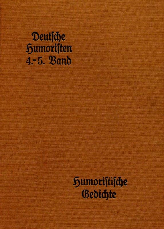 Deutsche Humoristen - Doppelband 4 - 6
